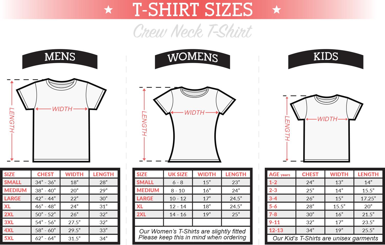Kids T Shirt Sizes Kamos T Shirt